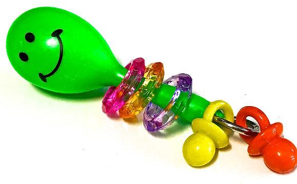 Birdtalk Bird Toys - Maraca and Rings Foot Toy