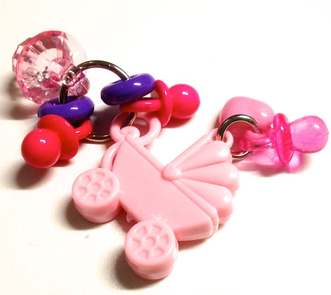 Bird Toy  DRESSED PRAM (pink)  Foot Toys