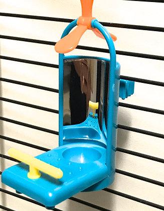 Birdtalk Bird Toys Fun Mirror with T Perch