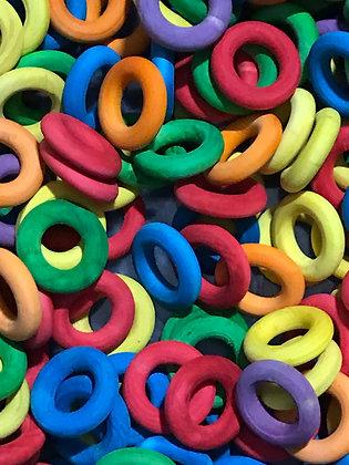 Birdtalk Bird Toys - 30 Colored Wooden Rings