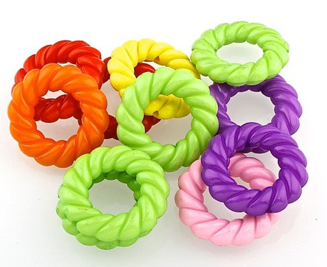 Birdtalk Bird Toys - 10 Big Acrylic Donut Beads