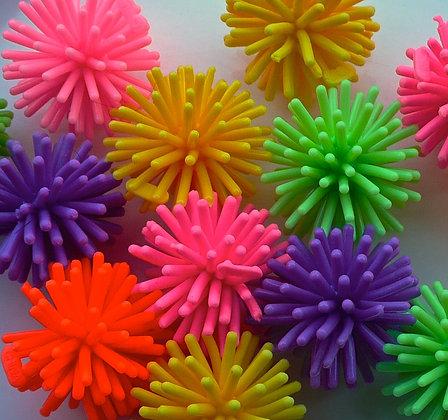 Birdtalk Bird Toys - 10 Mini Opaque Porcupine Balls