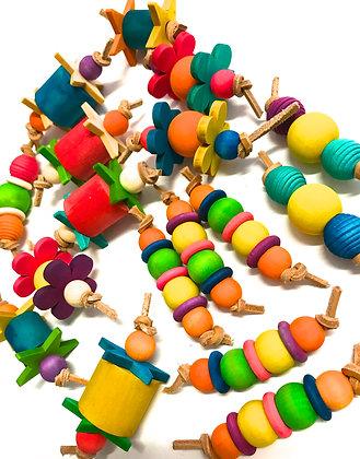 Birdtalk Bird Toys - 3 Wooden Foot Toys