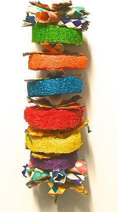 Birdtalk Bird Toys - Loofah Stack