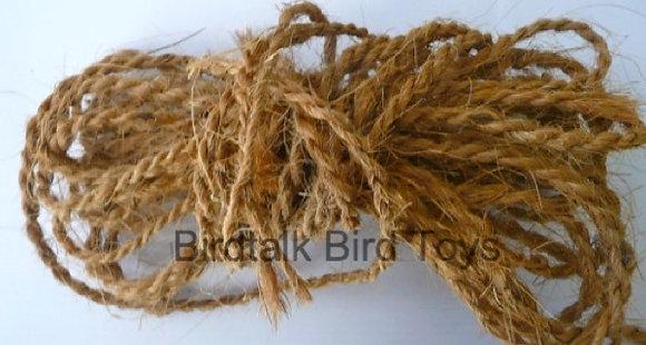 Birdtalk Bird Toys - 1 Meter of Natural Coconut Rope