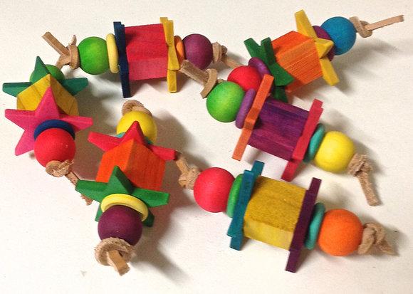 Birdtalk Bird Toys - 1 Block & Stars Foot Fiddler