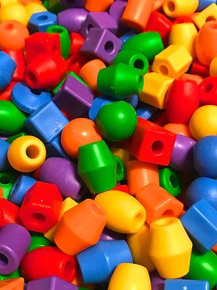 Birdtalk Bird Toys - 10 Opaque Jumbo Beads