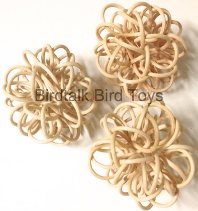 Birdtalk Bird Toys - 2 Natural Cane Flowers