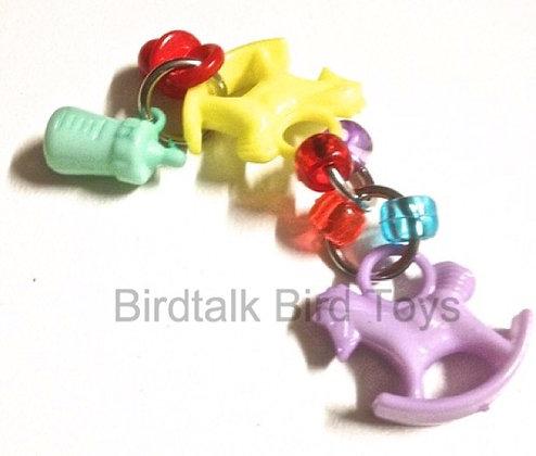 Birdtalk Bird Toys - Rocking Horses Foot Fiddler