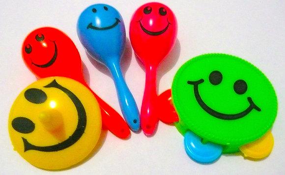 Birdtalk Bird Toys - Smiley Faces Foot Toy Pack