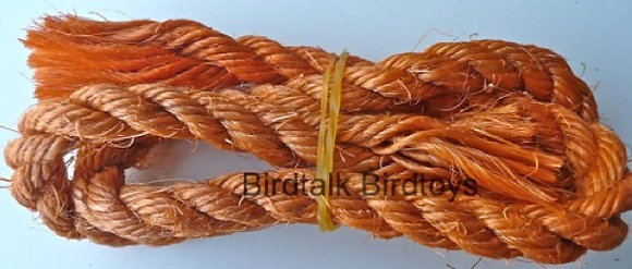 Birdtalk Bird Toys - 1 Length of Orange Coir Rope