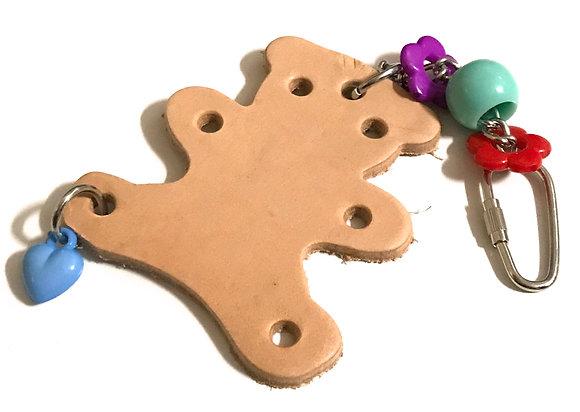 Birdtalk Bird Toys 1 Leather Bear  Toy Base