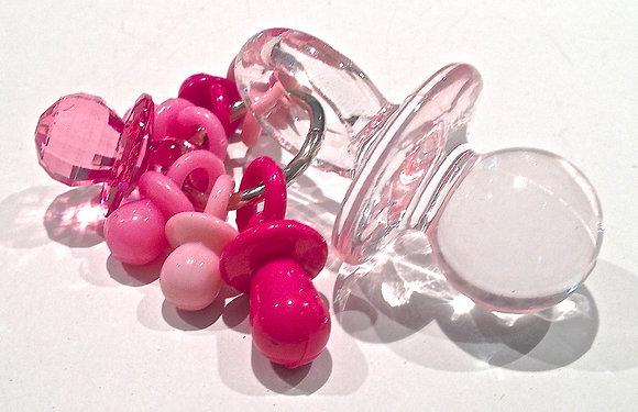 Birdtalk Bird Toys - Lots of Pink Pacifiers