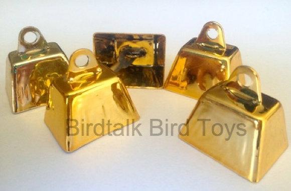 Birdtalk Bird Toys - 5 x 26mm Cow Bells