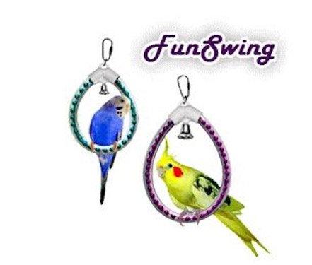 Birdtalk Bird Toys - Fun Swing Gold