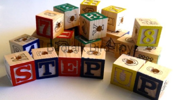 Birdtalk Bird Toys - 1 x 3cm Wooden ABC Block Toy Parts