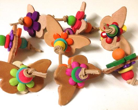 Birdtalk Bird Toys - 1 Leather Butterfly