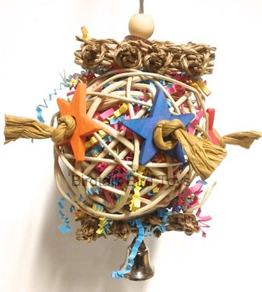 Birdtalk Bird Toys - Vine Ball and Stars