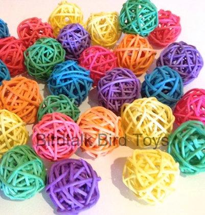 Birdtalk Bird Toys - 4 x 5cm Vine Balls
