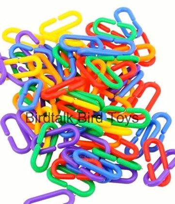 Birdtalk Bird Toys - 24 Plastic C Links