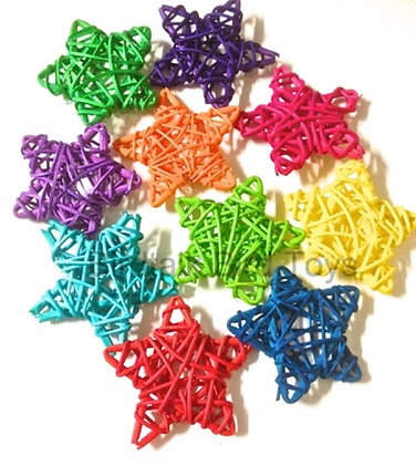 Birdtalk Bird Toys -1 x  6cm Colored Vine Star