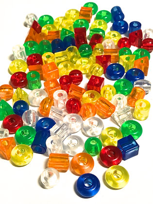 Birdtalk Bird Toys - 10 Medium Transparent Beads