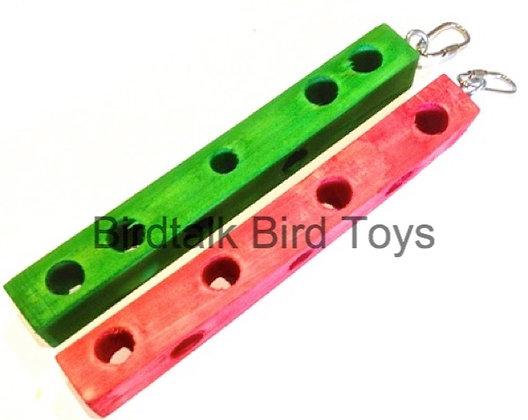 Birdtalk Bird Toys - 1 Wooden Hangbar  Toy Parts