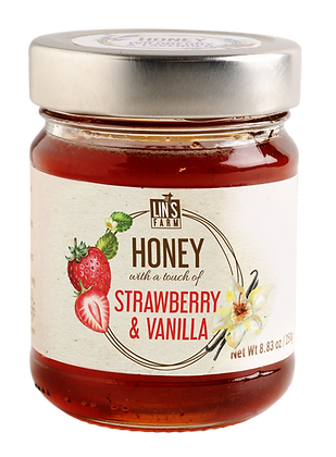 Honey with a touch of Strawberry & Vanilla