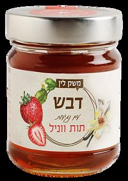 דבש עם נגיעות תות ווניל