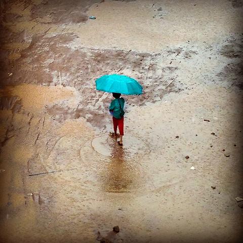 Monsoon season in Mumbai, India. 2014