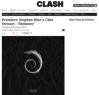 Clash Magazine: Stephan Hinz & Clint Stewart - Shimmer (Hub One EP)