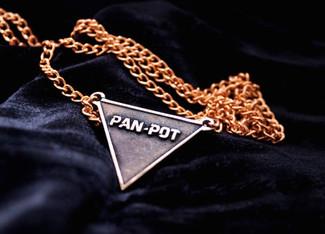 Pan-Pot Bronze / Silver Geometric Necklace