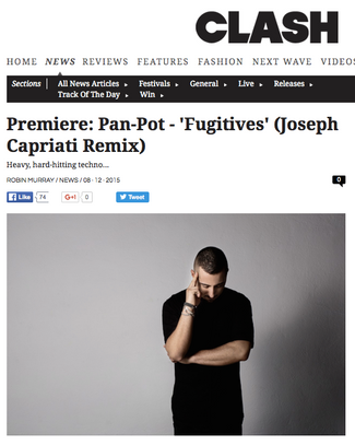 Pan-Pot - Fugitive (Joseph Capriati Remix) Track Premiere
