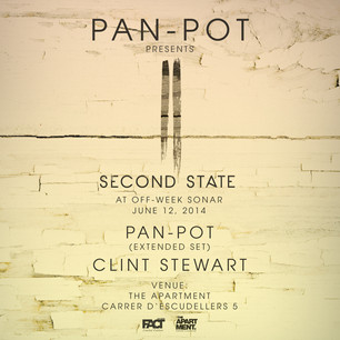 Pan-Pot presents Second State Showcase at OFF-WEEK Barcelona on June 12th, 2014