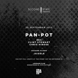 Second State presents Pan-Pot, BEC, Clint Stewart at Lehmann Club, 25.09.15