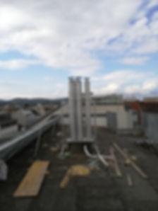 Kaminverlängerung nach Dachgeschoßneubau