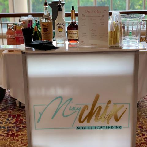 Portable Bar at Wedding