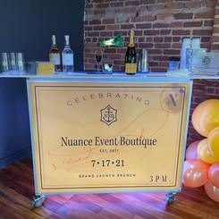 Custom Bar Wrap-Launch Party