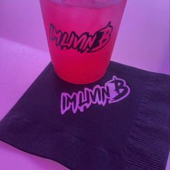 Custom Frosted Cups & Napkins (Included