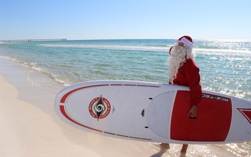 Santa Surfboard