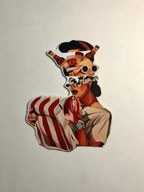 "Quarantine Daydream - Sticker 2 x3"""
