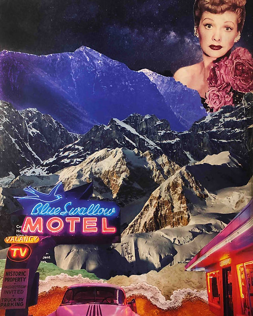 "Blue Swallow Motel - 11 x 14"" Print"