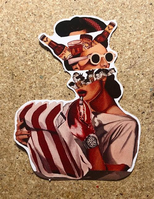 "Quarantine Daydream - Sticker 3 x 4"""