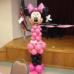 minnie mouse balloon column birthday