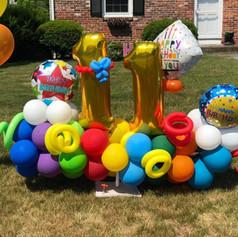 11th birthday balloon display