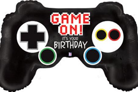 "XL 36"" BIRTHDAY GAME ON CONTROLLER BALLOONS"