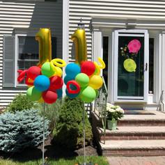 Birthday 11th birthday balloon column display