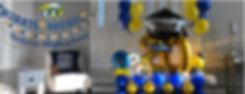 banner andover high school balloon decor