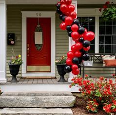 North andover balloon garland porch