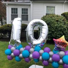 10th birthday balloon Lawn display